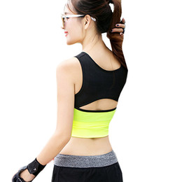 Wholesale Hot Sexy Female Body - 2017 Sports Women Running Bras Hot Workout And Gym Underwear New Female Sexy Body Building Trainning Yoga Fitness Bra