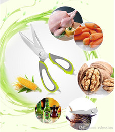 Wholesale Wholesale Shears Sets - 200pcs Kitchen scissors knife for fish chicken household stainless steel multifunction cutter shears free shipping with magnetic cover