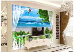 Wholesale 3d Tree For Kids Wall - custom 3d photo wallpaper murals wall paper Summer sunny sky green tree pigeons 3d living room wallpaper background wall home decor