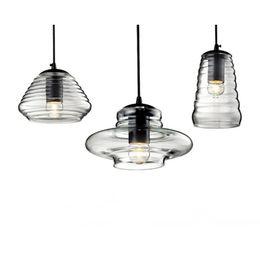 Wholesale Tom Bowls - Tom Dixon Pressed Glass Pendant Lamp Light Bowl lens tube ABC modern Ceiling lamp suspension lighting chandeliers
