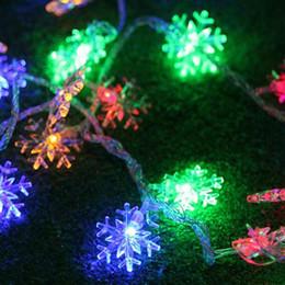 2019 tiras de led impermeables bateria Impermeable IP65 regalo de Navidad Copo de nieve tira de LED 10M 100 LEDs Navidad decoración cadena EE. UU. Enchufe / Eu enchufe / USB 5V / Seco con pilas tiras de led impermeables bateria baratos
