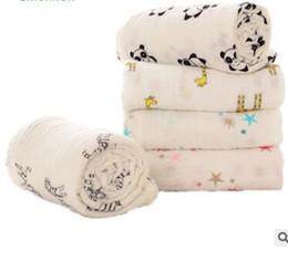 Wholesale Animal Printed Bath Towels - Baby Muslin Swaddles Aden Anais Wraps Blankets Print Newborn Nursery Bedding Cotton Swaddling Kids Bath Towels Parisarc Quilt Robes J422