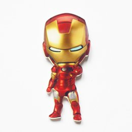 Wholesale China Jeans Free Shipping - MOQ=20pcs Free Shipping Kawaii Cartoon Cool Iron Man Brooch Pins Button Decoration Badges Icon Pin back Clothes Jeans Broach Pins