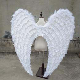 2019 adereços de desempenho de palco tiro tamanho grande anjo bonito asas branco Exposição Automóvel Displays desempenho estágio casamento adereços pura artesanal adereços de desempenho de palco barato