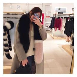 Wholesale Stars Stripes Scarves - 2017 women winter newest fashionable scarf luxury brand scarves fox fur scarfs foulards echarpe hiver femme fulares mujer schal luxus mark