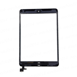 Wholesale Glass Panel Connector - 100% High Quality New Touch Screen Glass Panel with Digitizer with ic Connector Buttons for iPad Mini and Mini 2 Free Shipping