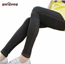 Wholesale Jeggings For Plus Size - Wholesale- Women's leggings xxl fitness big size black high waist Jeggings Jean For Women Plus Size Faux Denim legins Pants Boots leggins