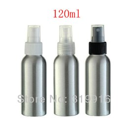 Wholesale Spray Bottle Aluminum Pump - 120ml X 20 empty sprayer pump aluminum bottles 120cc perfume mist spray pump metal containers, bottle fine spray mist pump