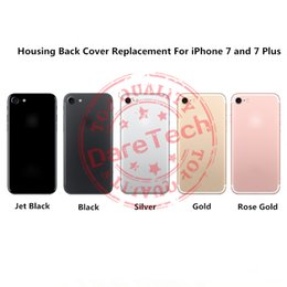 Wholesale Replacement Cover For iPhone iPhone plus Housing Jet Black Gold Silver Rose Gold Black Colors With Logo DHL shipping