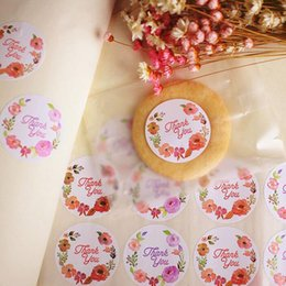 Wholesale Printed Paper Tags - 360pcs set Colorful Seal Label Sticker Thank You Gift Tags Marks Wedding Favors Party DIY Decoration Accessories ZA2931