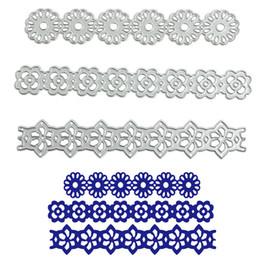 Wholesale flower stencils - 3x Long Flower Lace Metal Cutting Dies Stencil DIY Scrapbooking Album Paper Card Embossing Craft Gift