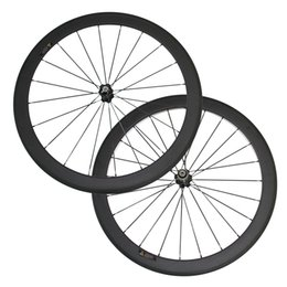 Wholesale Road Bike Race Wheels - In Stock Under $300 50mm Clincher Carbon Wheels 3K Matte 700C Road Bicycle Carbon Racing Wheelset Cheap Novatec Hub 2 days shipping