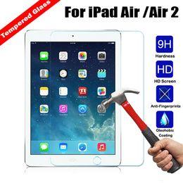compressa protetta Sconti 9H 2.5D 0.3MM temperato temperato vetro per iPad Air Air2 9.7 pollici protetto contro le esplosioni tablet PC Film Goophone I7 protegge coperchio