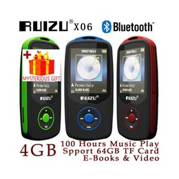 Wholesale Flac Audio Player - Wholesale- Ruizu X06 Lossless Portable Digital Hifi Flac Audio Sport With Headphones Screen Mp 3 Mini Music Mp3 Player Bluetooth Radio FM