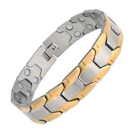 Wholesale chain link inserts - Cool Titanium steel inserts fitness bracelet anti - fatigue bracelet. Original design, leading the trend, limited sale. 40331