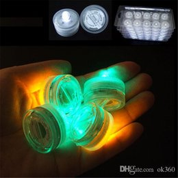 Luz sumergible de noche online-Vela sumergible led Color blanco Subacuático LED Velas sumergibles led vela tealight ¡Luz / lámpara, barata!