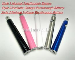 Toucher manuel en Ligne-Date 350mah batterie de stylo de préchauffage manuel vs BUD tactile vape O stylo tension variable USB passthrough batterie de vaporisateur de préchauffage