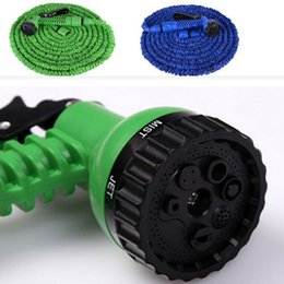 Wholesale Water Spray Nozzles Wholesale - 100FT Triple Expandable Flexible Hoses Garden Water Magic Hose With Spray Nozzle Head Gun Sprayers Car washing Plants watering Factory Price