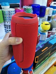 Wholesale Bass Plastic - Charge3 Portable Audio Speaker Wireless Bluetooth with USB MP3 TF and AUX Outdoor Party Bass Music Charge 3 for Cellphone and PC