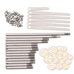 Wholesale clarinet screws - Set Clarinet Repair Parts Screws Key Shaft Parts + Pads