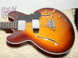Wholesale Guitar 335 Sunburst - High Quality Sunburst 335 Electric BASS 4 Strings bass Wholesale from China