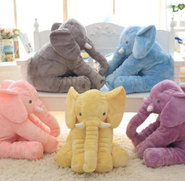 Wholesale Huge Stuffed Animal Pillows - New Animals toys Huge Elephant Toy Stuffed Plush toy dolls best gift for baby bedroom sleeping softy pillow