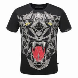 Wholesale Skull Shirts Mens - 2017Fashion Short Sleeve 100% Cotton shirt men hip hop skull mens tops tee tshirt