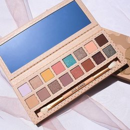 Wholesale Matte Eyeshadow Naked - 2017 kylie vacation edition 16 Colors Nude Earth Naked Eyeshadow Palette with Brush Shimmer Matte Waterproof Makeup Eye Shadow Palette