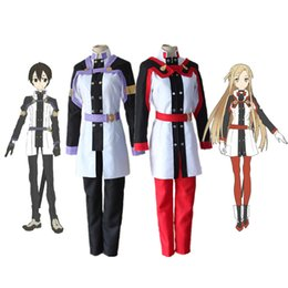 Wholesale Kirito Asuna Swords - SAO Sword Art Online Film Alfheim Online Kirito Yuuki Asuna Cosplay Kirigaya Kazuto Costume Halloween Party Clothing Outfit Set