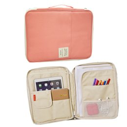 Wholesale Tablet Folder - Wholesale- Laptop Sleeve Case 11,13 inch Computer Bag Notebook Tablet, waterproof nylon document bag a4 documents folder cases manager bag