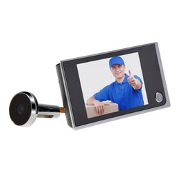 Wholesale Digital Video Door Viewer Peephole - 3.5 inch LCD Display Digital Video Door Peephole Viewer 120 Wide Angle Auto 2.0 Mega Pixel Camera