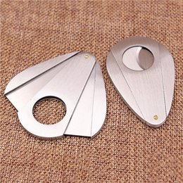 Wholesale Cigars Cutters - KKDUCK High Grade Stainless Steel Cigar Cutter Good Quality Stainless Steel Portable Double Blade Free Shipping
