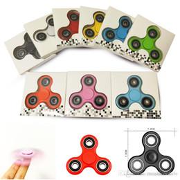 Nouvelle arrivée Fidget Spinner EDC main spinner main main spinner doigts spirale doigts acrylique plastique Fidgets jouets Gyro jouets avec boîte de vente au détail ? partir de fabricateur