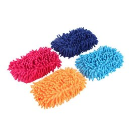 Wholesale Auto Hand Cleaner - Random Color Vehicle Auto Car Hand Soft Towel Microfiber Chenille Washing Gloves Cleaning Glove Wash Mitten Cloth Mitt Brush MSKH591