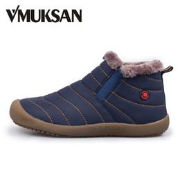 Wholesale Warm Furry Boots - Wholesale- VMUKSAN Men's Snow Boots Warm Plush Furry Booties Winter Boots Snow Shoes For Men Ankle Boots 2016 Botas Hombre