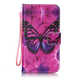 Wholesale Stylus Straps - Flower Wallet Leather Pouch Case For LG K7 K8 K10 V20 X POWER SCREEN Stylus 2 LS775 G Stylo Stand ID Card Strap TPU Cat Love Butterfly Cover