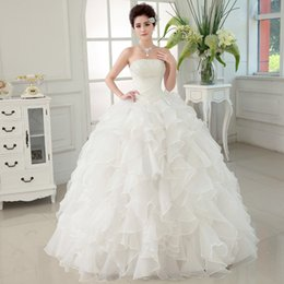Wholesale Hot Sexy Chest - Hot Selling Fashion Wedding Dresses Bride Bandage Drill Lace Princess Dress Wrapped Chest new Ball Gown 2017 Wedding Dresses