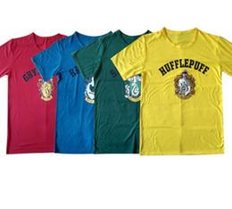 Wholesale Crest Shirt - Teenagers Harry potter cosplay T-Shirt GRYFFINDOR Crest students Hogwarts harry potter short Sleeve T-Shirt Tee 4 color LJJK748
