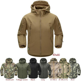 Wholesale military outdoor clothing - ESDY Outdoor Jacket Coat Water-resistant Luker TAD Shark Skin Soft Shell Hoodie Military Airsoft Camping Hiking Clothing Tad army 2017