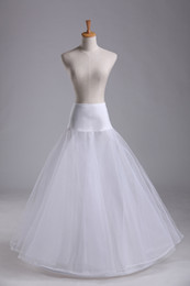 Wholesale Crinoline Skirts For Sale - 2017 Hot Sale Hoop A Line Bone Petticoats For Wedding Skirt Accessories Slip Underskirt Crinoline Wedding Dresses Petticoat