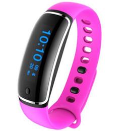Оптовая продажа-новый смарт-браслет V08 Arc shaped смарт-группа часы артериального давления сердечного ритма фитнес-трекер смарт браслет для IOS Android от Поставщики умная дуга часов
