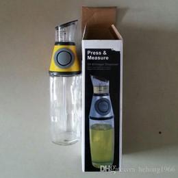 Wholesale Measuring Dispenser - Press Measure Oil Bottle Seal Up Leakproof Metering Bottles Clear Glass Ration Scale Oiler Vinegar Dispenser For Home 12xz R