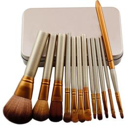 Kit de pinceles de maquillaje para colorete de sombras Kit de herramienta de cepillos cosméticos para mujer con caja 12pcs / set J2015 desde fabricantes