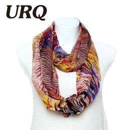Wholesale Womens Infinity Scarfs - Brand-Brand Winter Infinity scarves 1pc Cute Colorful Spring Printed Womens Tube scarves Wrap V8A9225