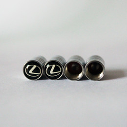 Wholesale Rear Case - Car styling Wheel Accessories Tire Valves Tyre Stem Air Caps Cover case For lexus Stainless Steel