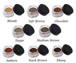 pomada de chocolate caliente Rebajas HOT Pomade Medio Marrón Maquillaje impermeable Ceja 4g Rubio / Chocolate / Marrón oscuro / Ébano / Castaño / Marrón medio / TALPE