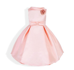 Wholesale Hot Dinner Dresses - PINK girls dinner dresses flora hot items for 90-130cm lovely baby party summer celebrate birthday party dress