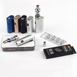 Wholesale E Cig New Design - 100% Original Jomo new design 40 watt e cig box mod Lite 40w vapor mod kit 3ml tank built-in battery Free DHL