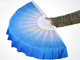 Wholesale Silk Chinese Fan Dance - 10pcs lot Free Shipping New Arrival Chinese dance fan silk veil 5 colors available For Wedding Party favor gift