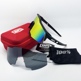 Wholesale Bicycle Sports Sunglasses Lens - Wholesale- Speedcraft 100% 2 Lenses Cycling Glasses Sports Eyewear men women UV400 Sunglasses Male Bicycle Goggles Outdoors Bike Glasses